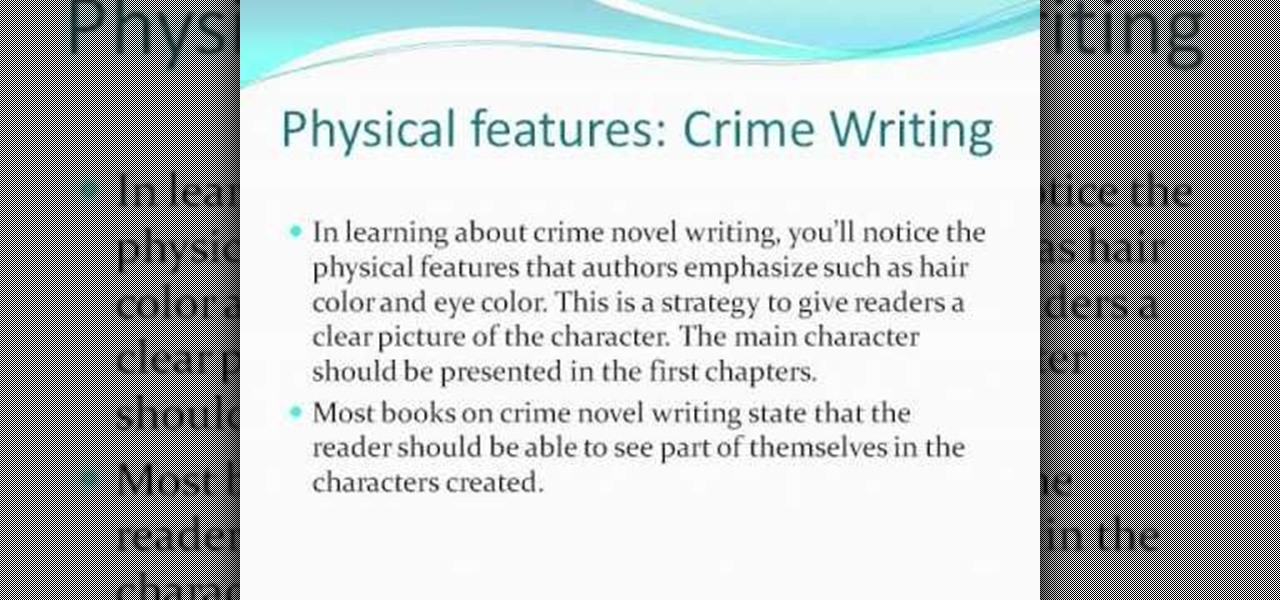 How to pace a crime novel