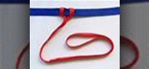 Tie the Girth Hitch knot with a knot tying animation