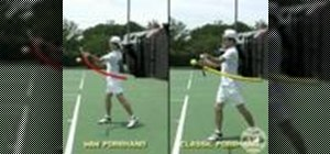 Practice the windshield wiper forehand in tennis fast