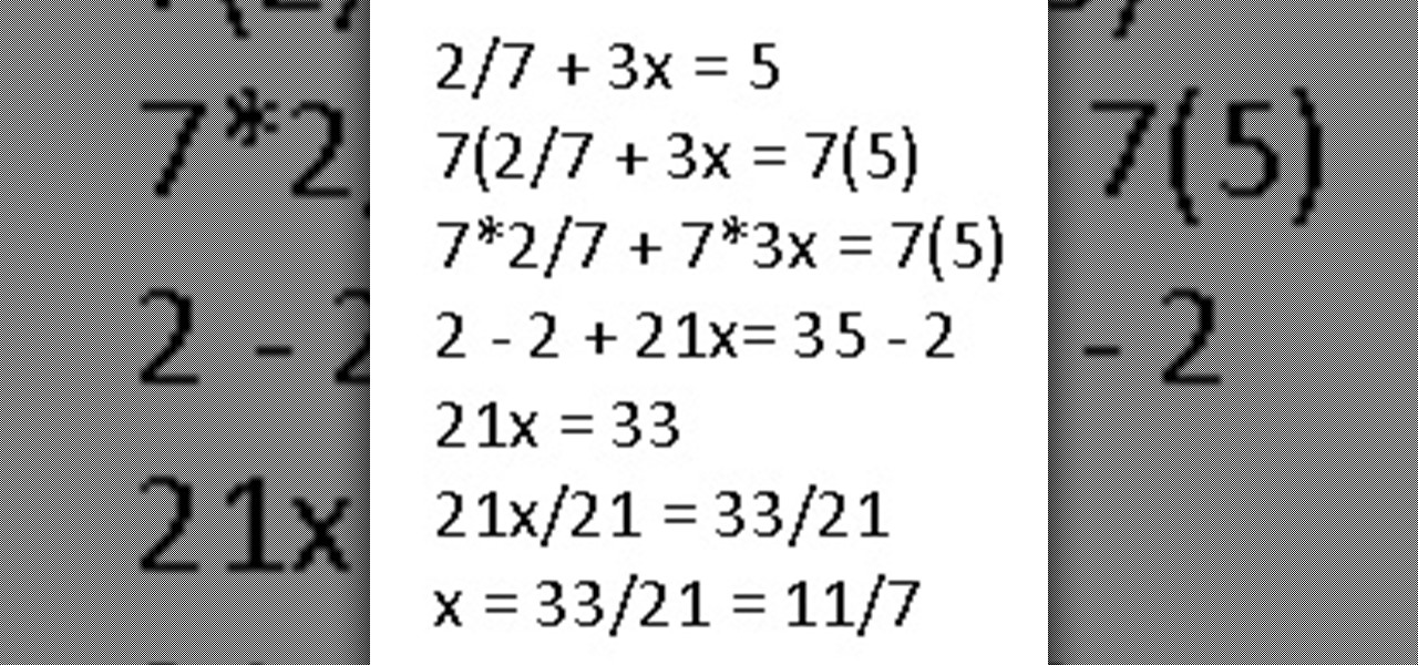 Solve Equations with Fractions