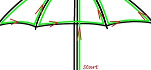 Make Neon Children's Umbrella Using EL Wire