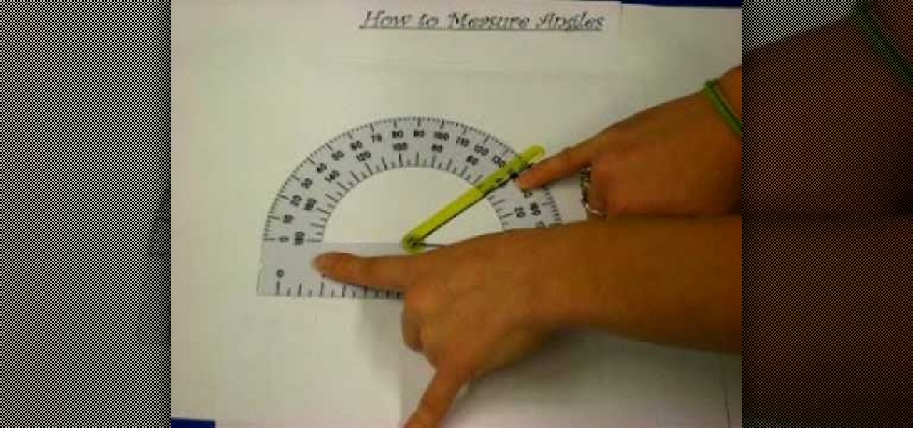 How To Use A Protractor In Geometry Math Wonderhowto