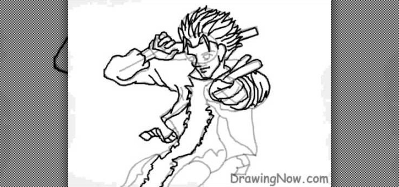 trigun coloring pages | How to Draw the manga character Vash the Stampede from ...
