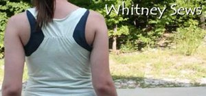 Make a quick ruched tank top from a t-shirt
