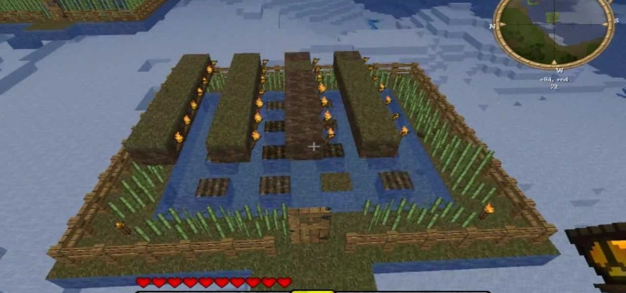 How To Build A Farm In Minecraft Pc Games Wonderhowto