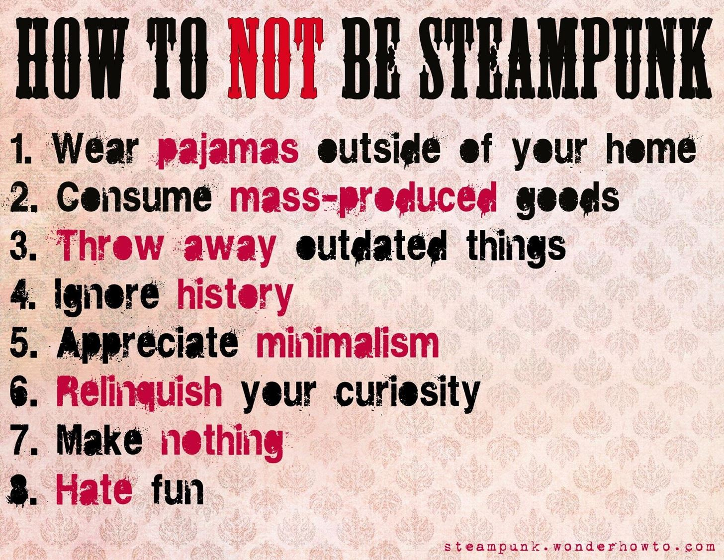 How to Not Be Steampunk