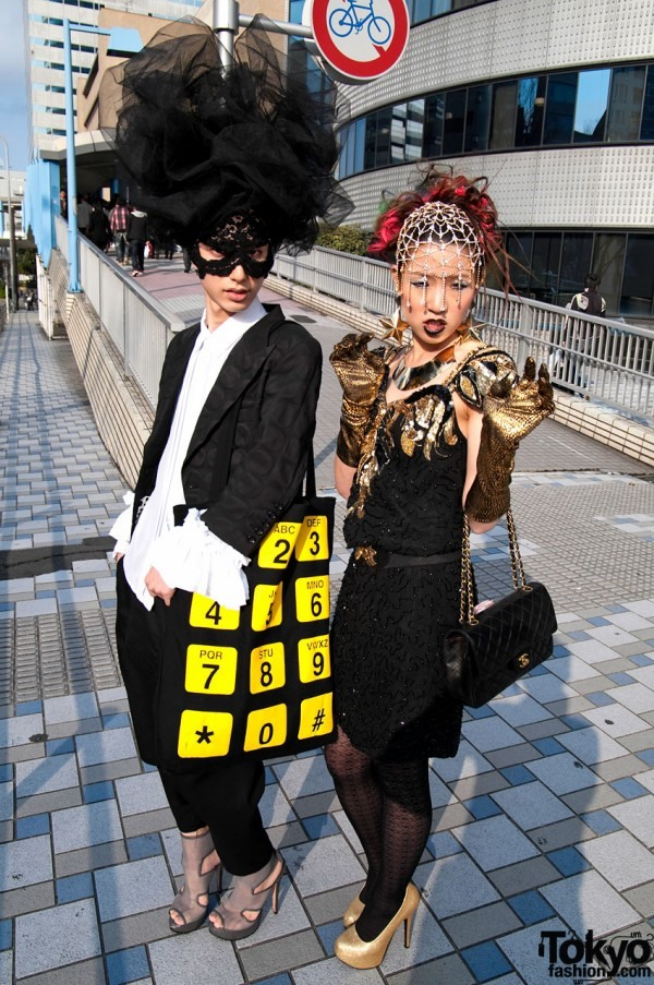 Super Cute Japanese Chicks Play Lady Gaga Dress Up