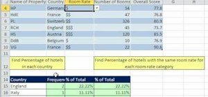 Find the percentage of total from a DB set in Excel