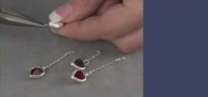 Create a Swarovski's heart channel earrings