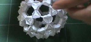 Origami a buckyball