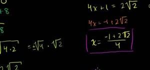 Solve quadratic equations by square roots