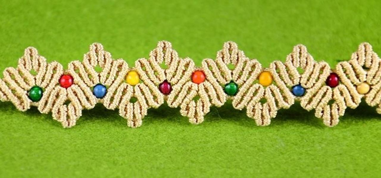 ZigZag Macrame Petal Bracelet Tutorial