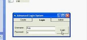 Implement an advanced login system with Visual Basic 6