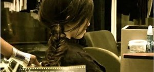 Create a loose and messy fishtail braid