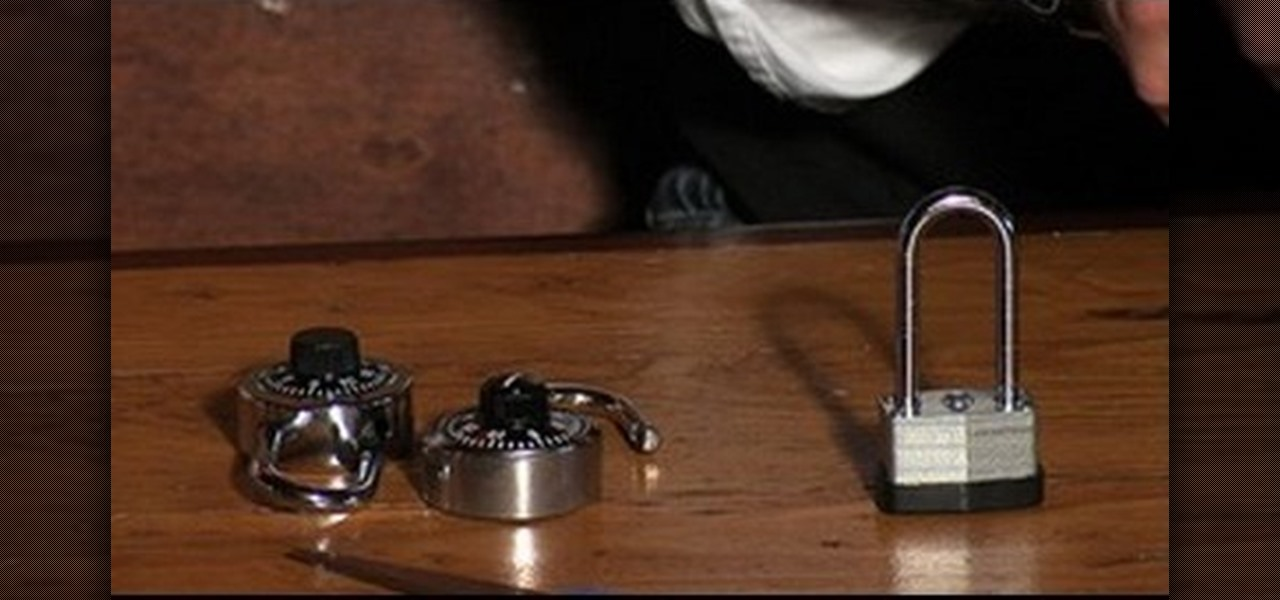 to open combination locks without a key or combination lock picking