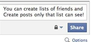 Creating Lists and Sharing with Specific friends
