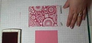 Color the background of an embossed image