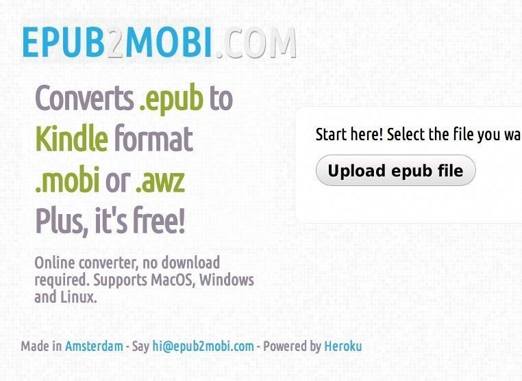 file converter epub to mobi