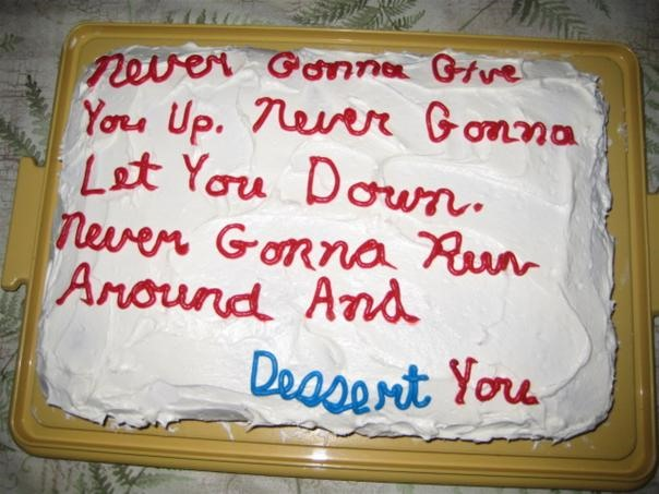 Cake Gets Rick Rolled