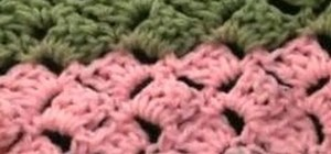 Crochet a left handed slanted shell for a baby Afghan