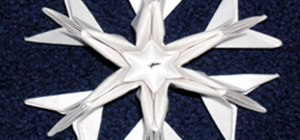 Fold Origami Christmas Decorations - Ornate Winter Snowflakes