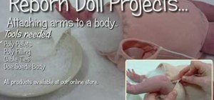 Weigh the shoulder and attach the arm on a reborn doll