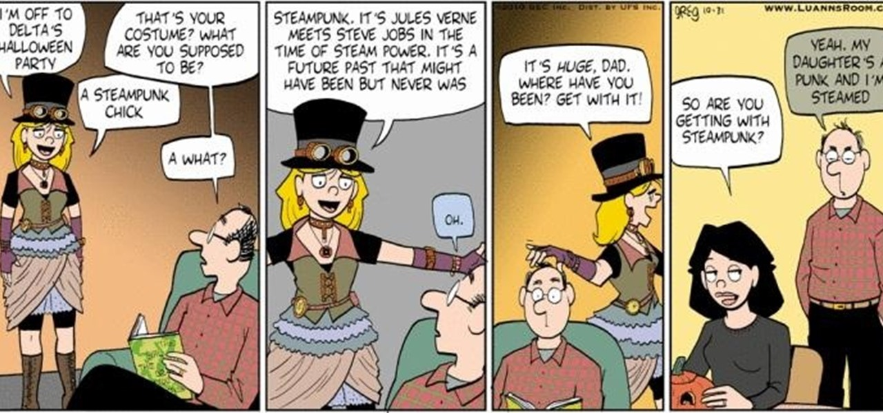 Mainstream Comic Strip About Steampunk