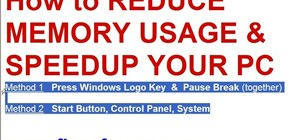 Reduce memory usage in Windows XP to speed it up