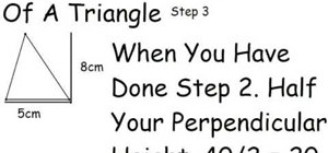 Work out the area of a triangle and a parallelogram