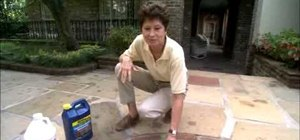 Clean and seal a concrete patio