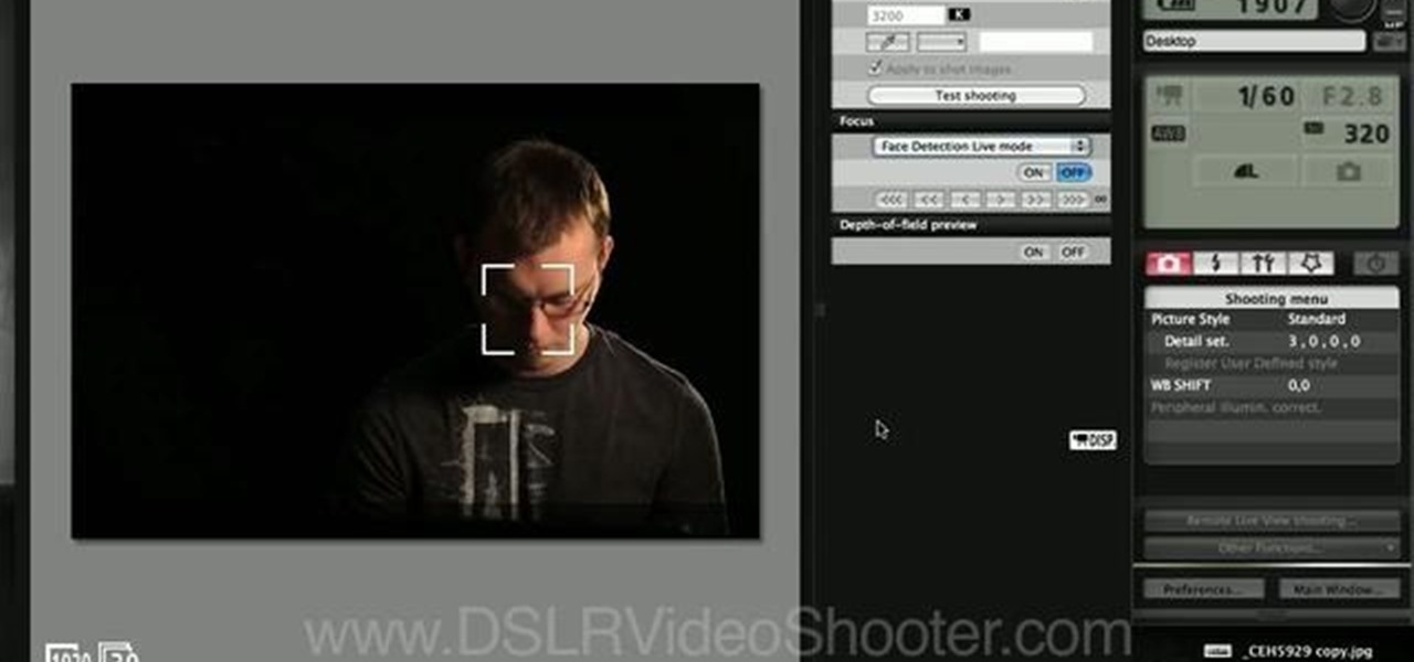 how to use canon eos 7d remote shooting software on a