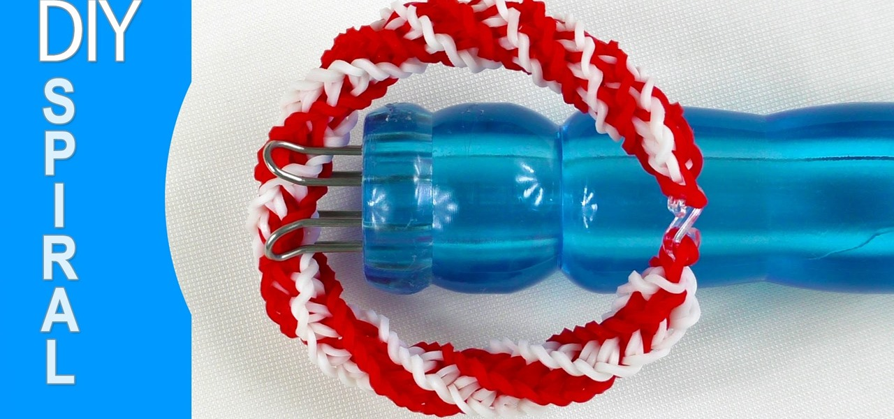 Rubber Band Double Spiral Bracelet