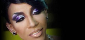 Create a fabulous purple pageant drag look