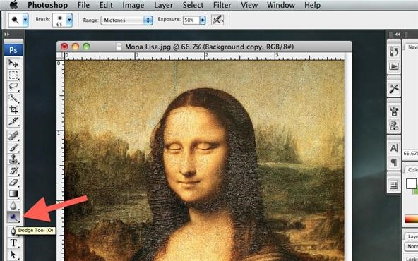 How to Make Mona Lisa's Eyes Blink in Photoshop (GIF Animation)