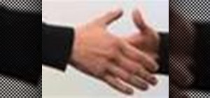 Shake hands properly