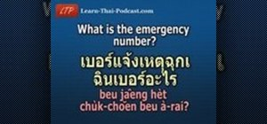 Pronounce emergency related words in Thai