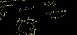 Geometrically prove the Pythagorean theorem