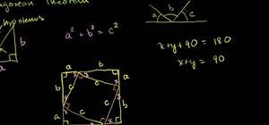 Geometrically prove the Pythagorean theorem