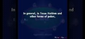 Position the first two cards in Texas Hold'em