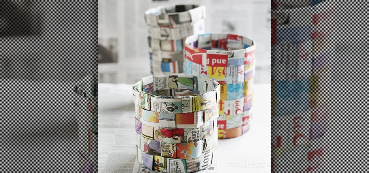 How to Make a Basket Out of Newspaper