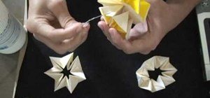 Make a modular origami pineapple