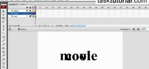 Create a big to small text animation in Flash