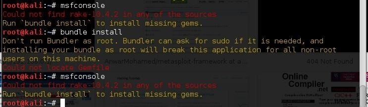 Assistance with Metasploit Framework, Please?{SOLVED}