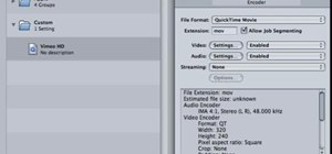 Encode HD for Vimeo using Apple's Compressor