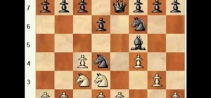 Use a gambit in the English four knights chess opening