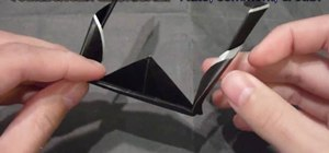 Make black and white origami sunglasses
