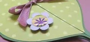 Make a leaf shaped card