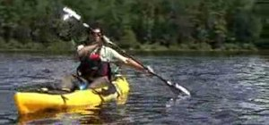 Move your kayak laterally with a draw stroke