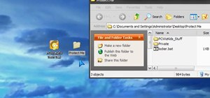 Crete a private password protected folder in Windows 7, Vista & XP