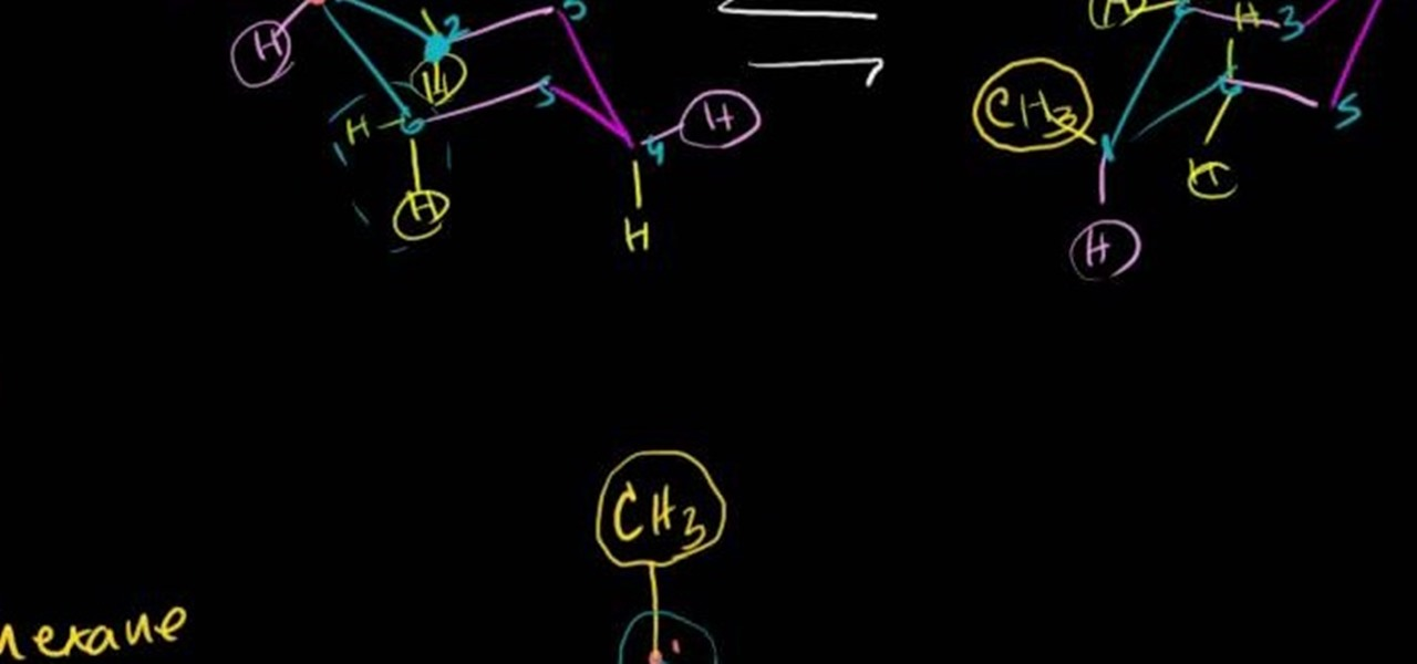 how to create a double newman diagram for methcyclohexane in  how to create a double newman diagram for methcyclohexane in organic chemistry science experiments wonderhowto